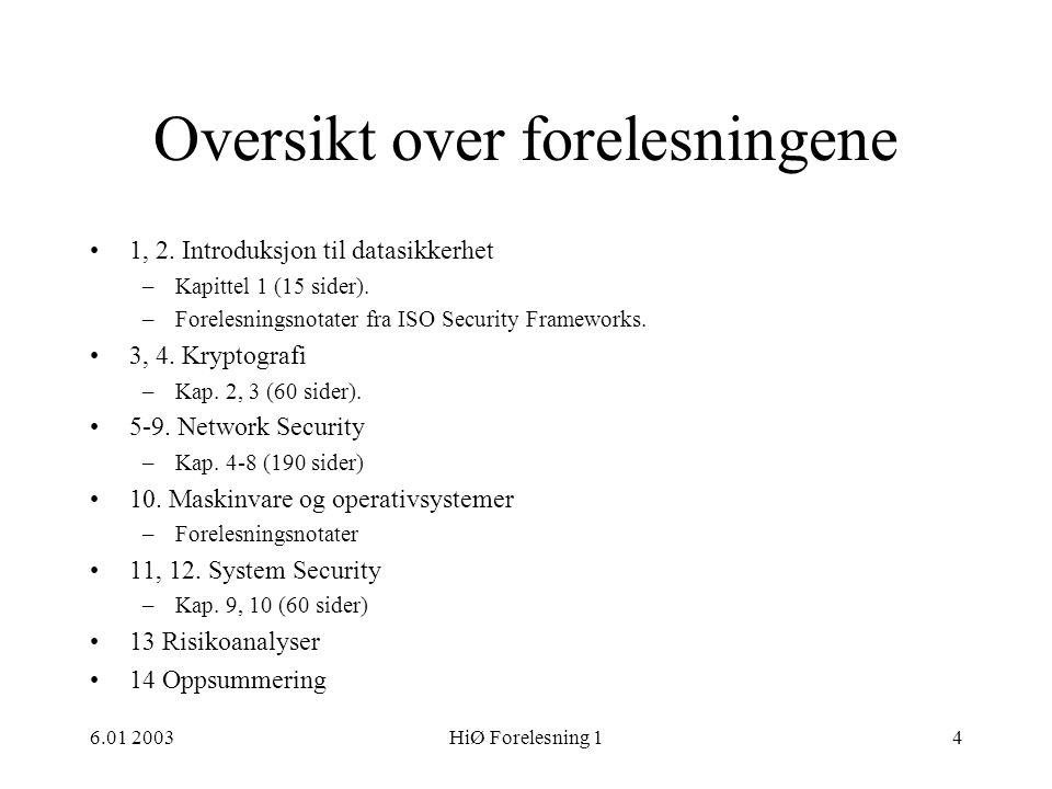 6.01 2003HiØ Forelesning 155 Nivåer forts.