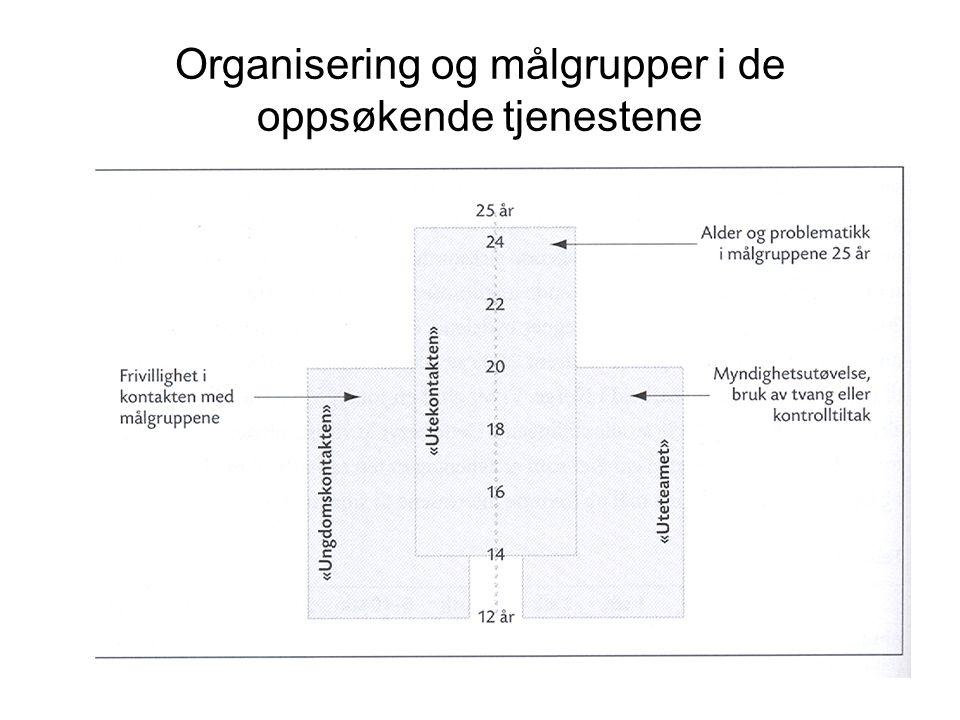 Organisering og målgrupper i de oppsøkende tjenestene