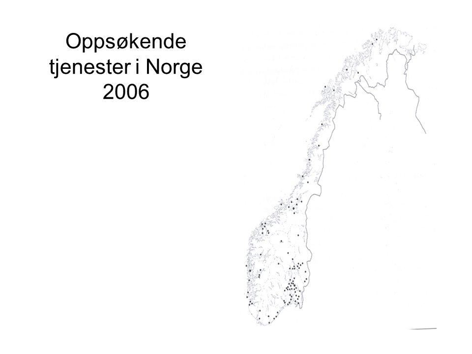 Oppsøkende ungdomsarbeid i Norge –Omkring 80-100 kommuner driver oppsøkende virksomhet.