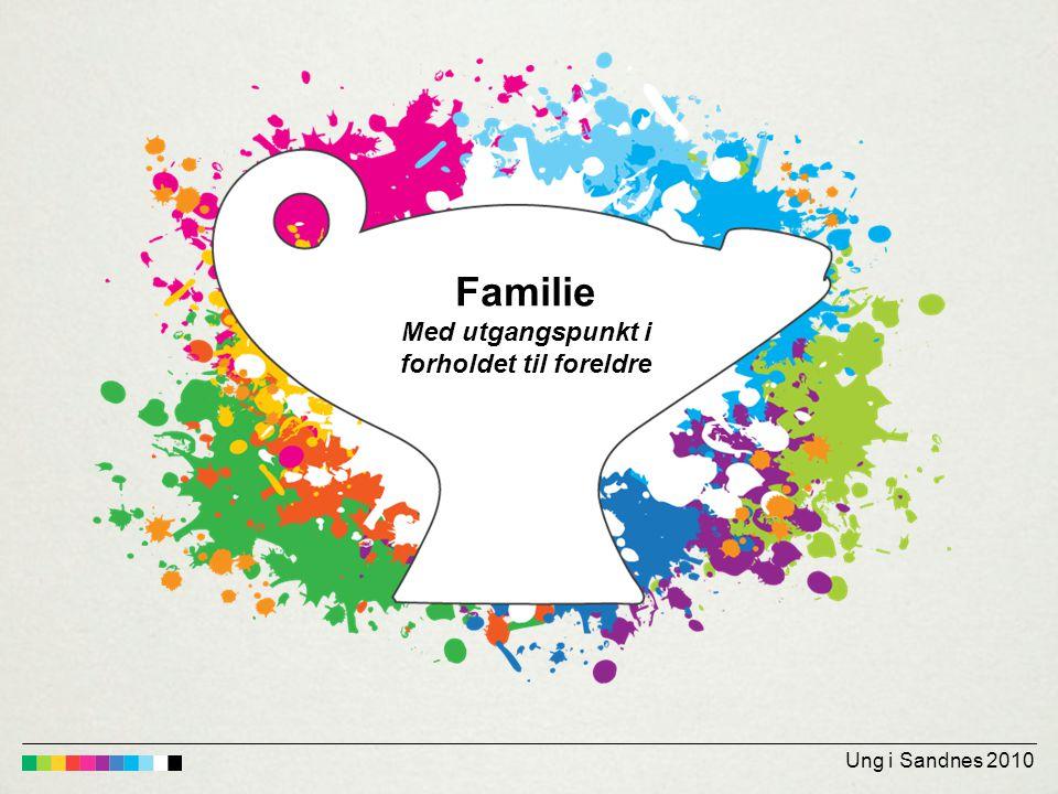Ung i Sandnes 2010 Familie Med utgangspunkt i forholdet til foreldre