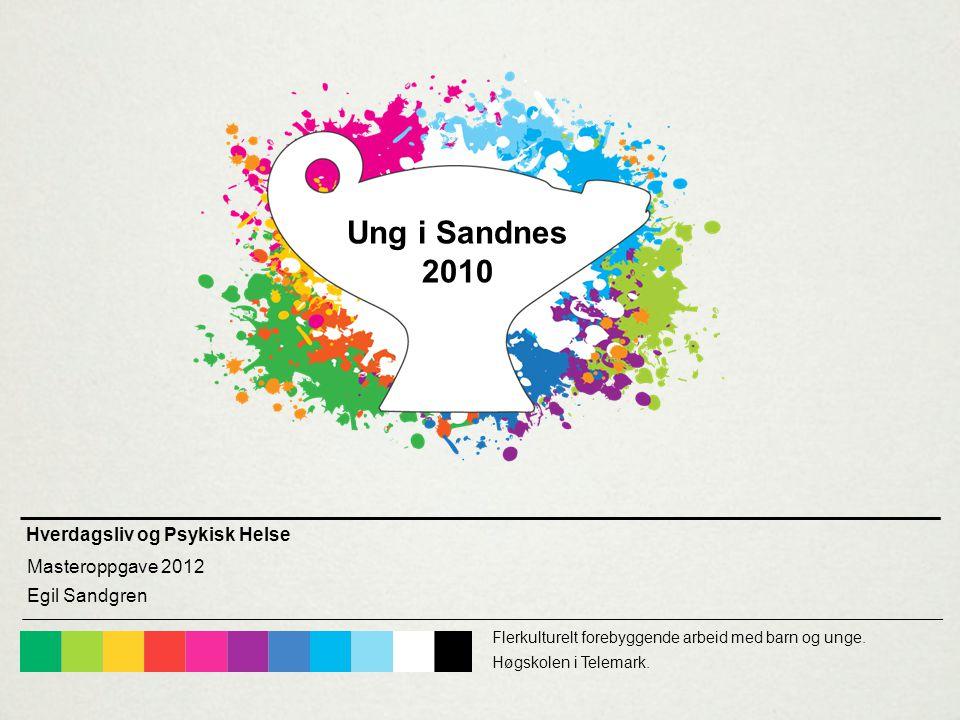 Hverdagsliv og Psykisk Helse Masteroppgave 2012 Egil Sandgren Flerkulturelt forebyggende arbeid med barn og unge.