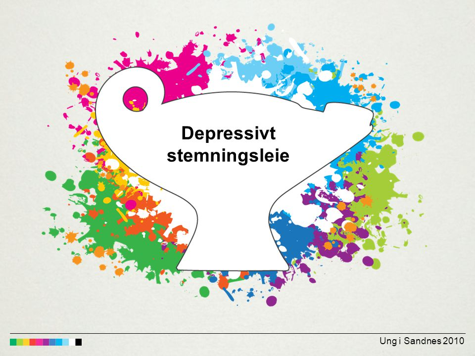 Depressivt stemningsleie Ung i Sandnes 2010
