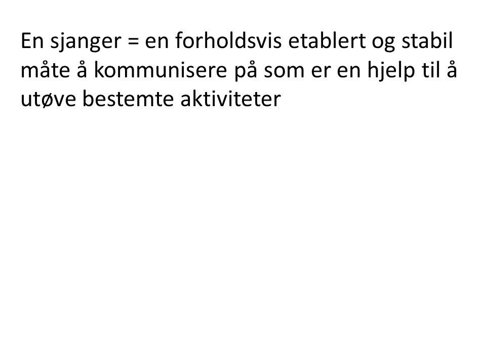 «Sjangertannhjul» 1: Form A: Struktur a: Språklig register (poetisk, fortellende, reflekterende osv.) 2: Innhold B: Saksinnhold b: Tema 3: Funksjon C: Bruk/anvendelse c: Nytte