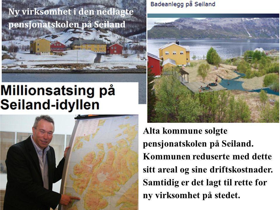 Alta kommune solgte pensjonatskolen på Seiland. Kommunen reduserte med dette sitt areal og sine driftskostnader. Samtidig er det lagt til rette for ny