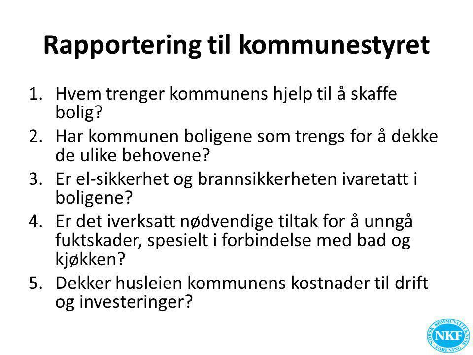 Rapportering for tjenestebyggene Oversikt tjenestebyggene Arealer og arealbruk.