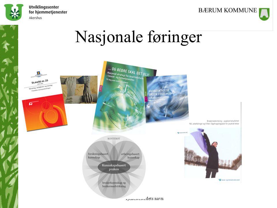 Tjenestestedets navn Nasjonale føringer