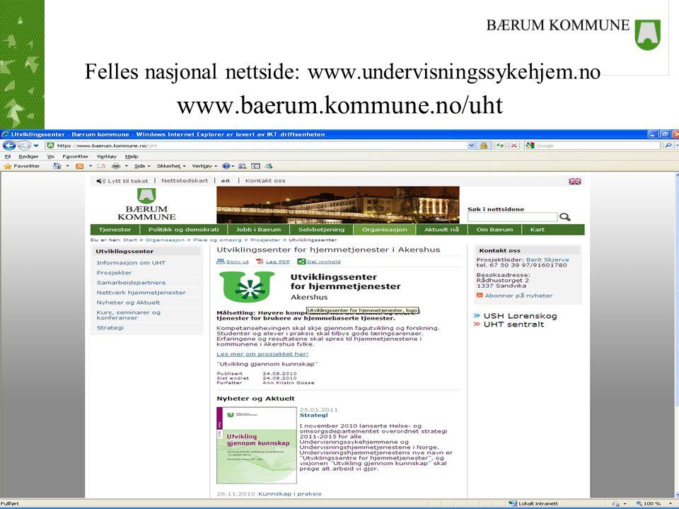Tjenestestedets navn Nettverk for hjemmetjenestene i Akershus Etablert 28.09.2010 •Sammen blir vi bedre enn hver for oss.