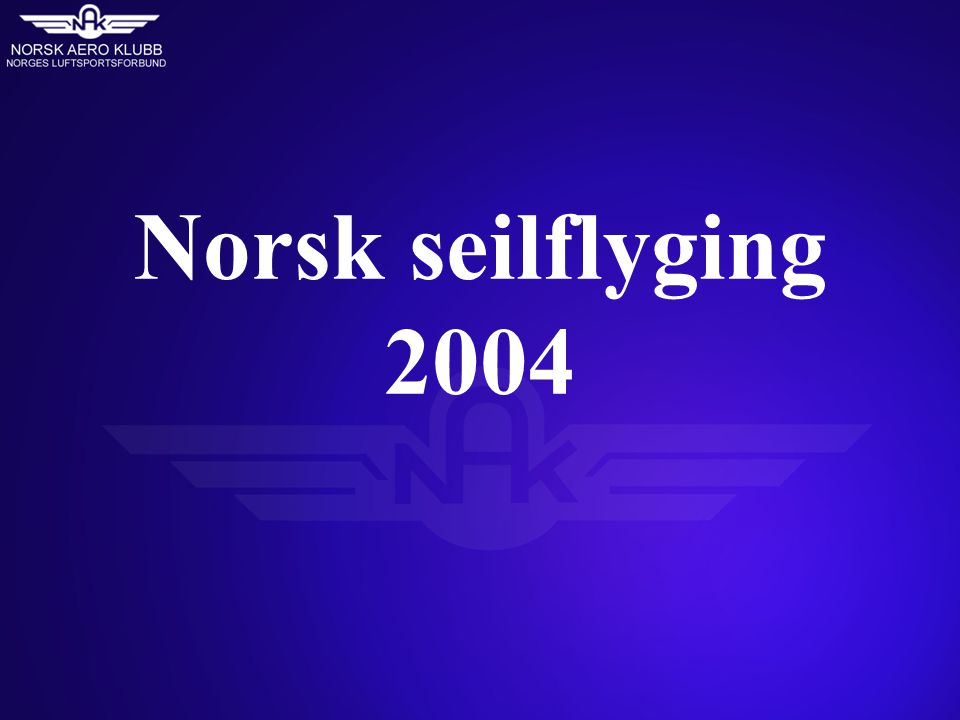 Norsk seilflyging 2004