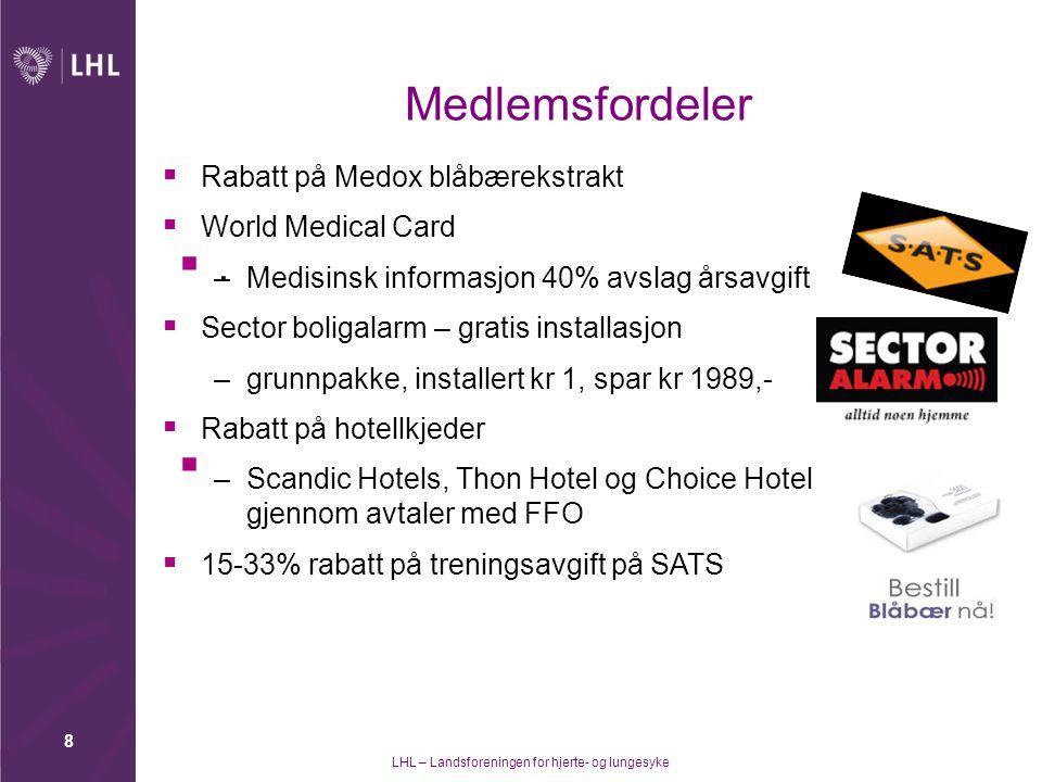 LHL – Landsforeningen for hjerte- og lungesyke 9 Nytt verveprogram.
