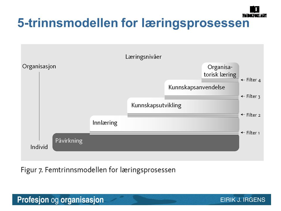 5-trinnsmodellen for læringsprosessen