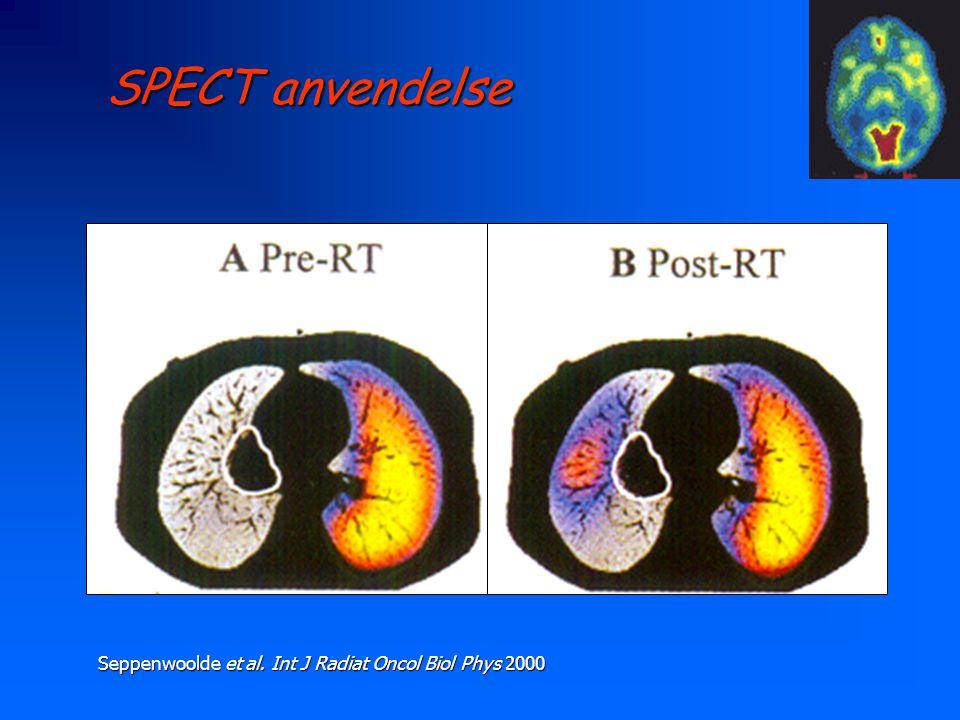 SPECT anvendelse Seppenwoolde et al. Int J Radiat Oncol Biol Phys 2000