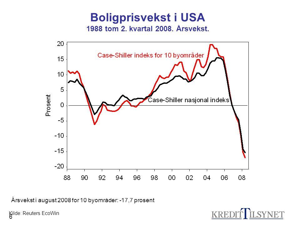 17 Internasjonal finanskrise og norske banker •Fundingkostnadene også for norske banker økte dramatisk.