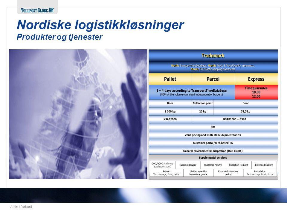 Alltid i forkant Nordiske logistikkløsninger Produkter og tjenester