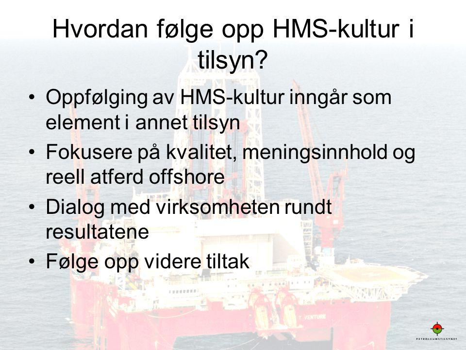 15 Hvordan følge opp HMS-kultur i tilsyn? •Oppfølging av HMS-kultur inngår som element i annet tilsyn •Fokusere på kvalitet, meningsinnhold og reell a