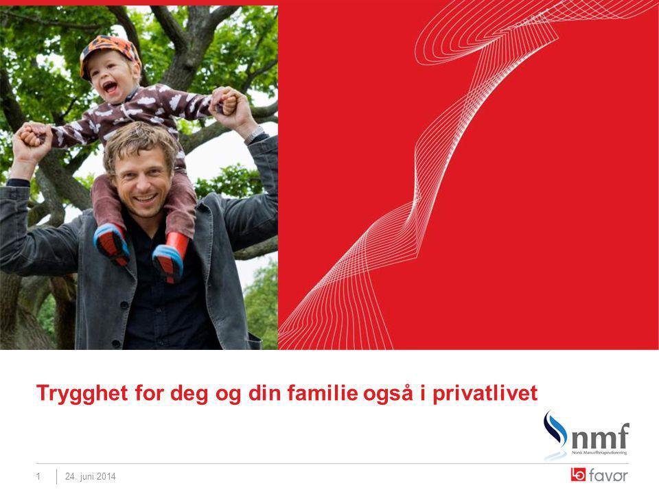 24. juni 20141 Trygghet for deg og din familie også i privatlivet