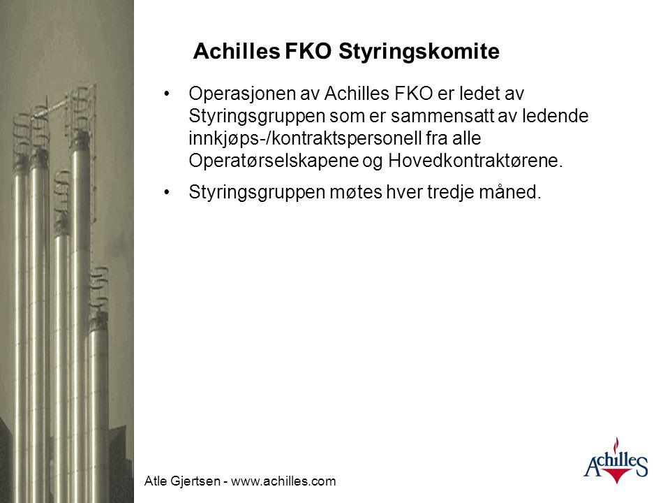 Atle Gjertsen - www.achilles.com Forenklet kommunikasjon •Standardisert prosess: Gjennom et felles system for hele oljeindustrien har pre-kvalifiserin