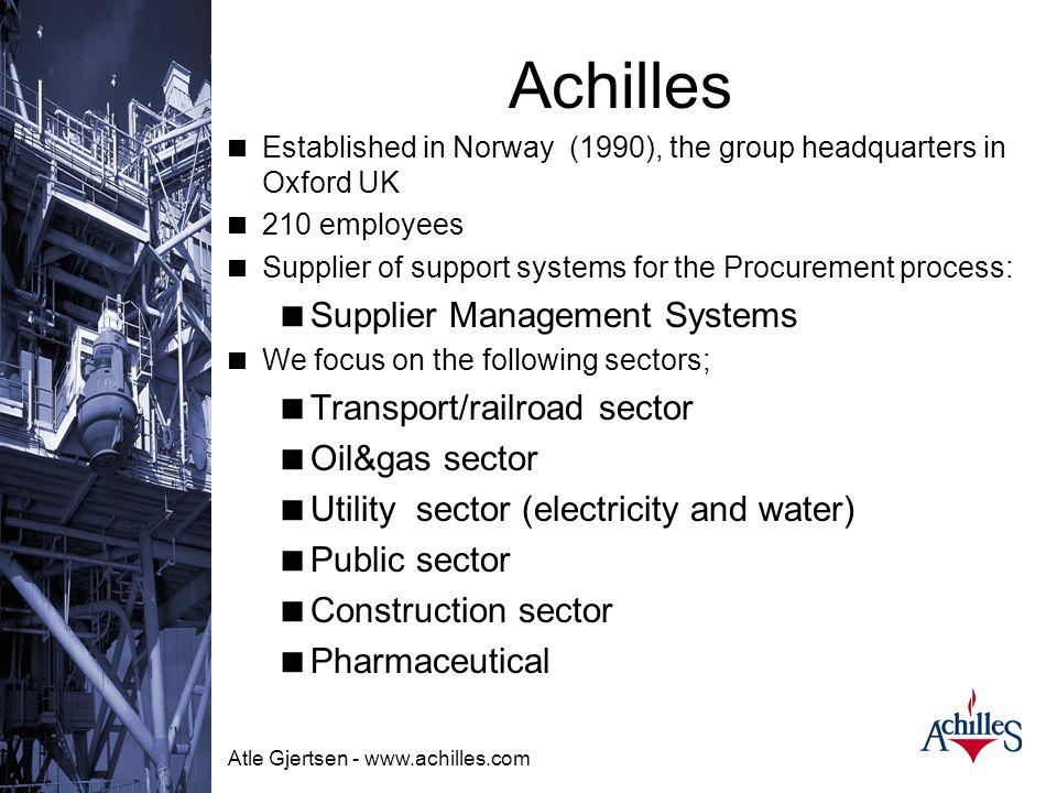 Atle Gjertsen - www.achilles.com VIKTIG  Achilles FKO erstatter ikke BANKING PÅ DØRER OG SALG.  Det er et pre-kvalifiserings system IKKE salgssystem