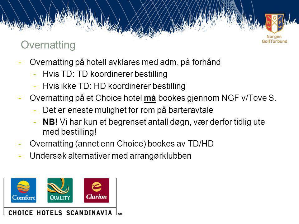 -Overnatting på hotell avklares med adm.
