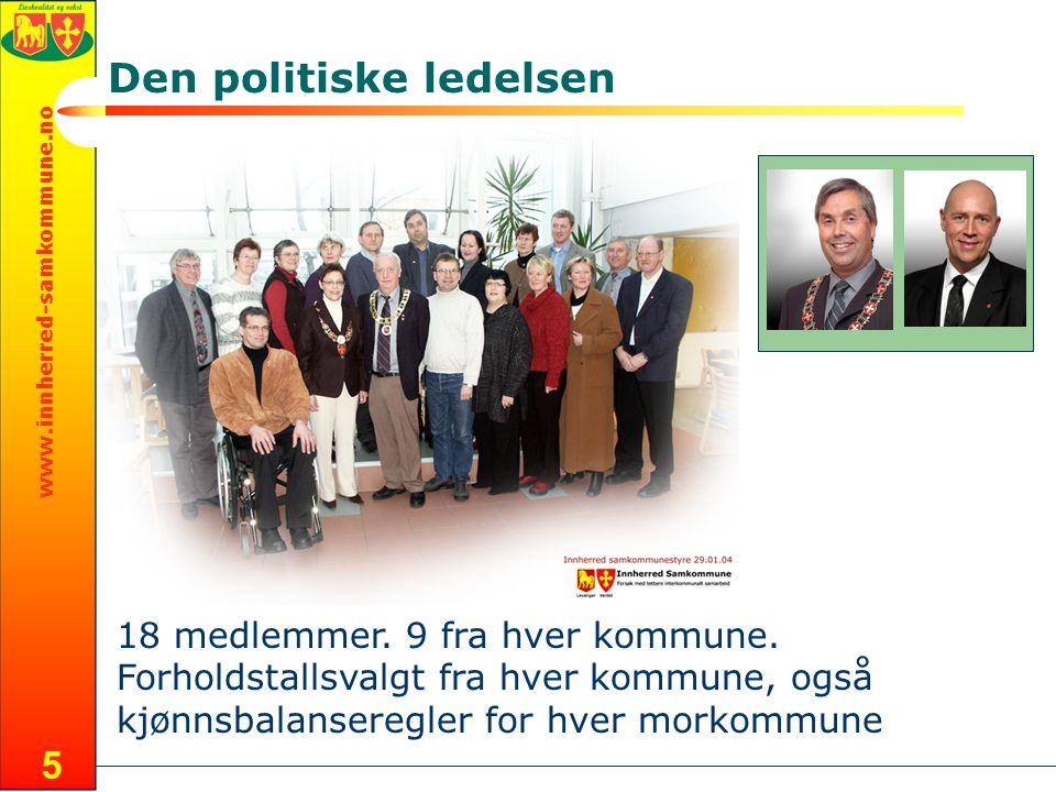 www.innherred-samkommune.no 5 Den politiske ledelsen 18 medlemmer.
