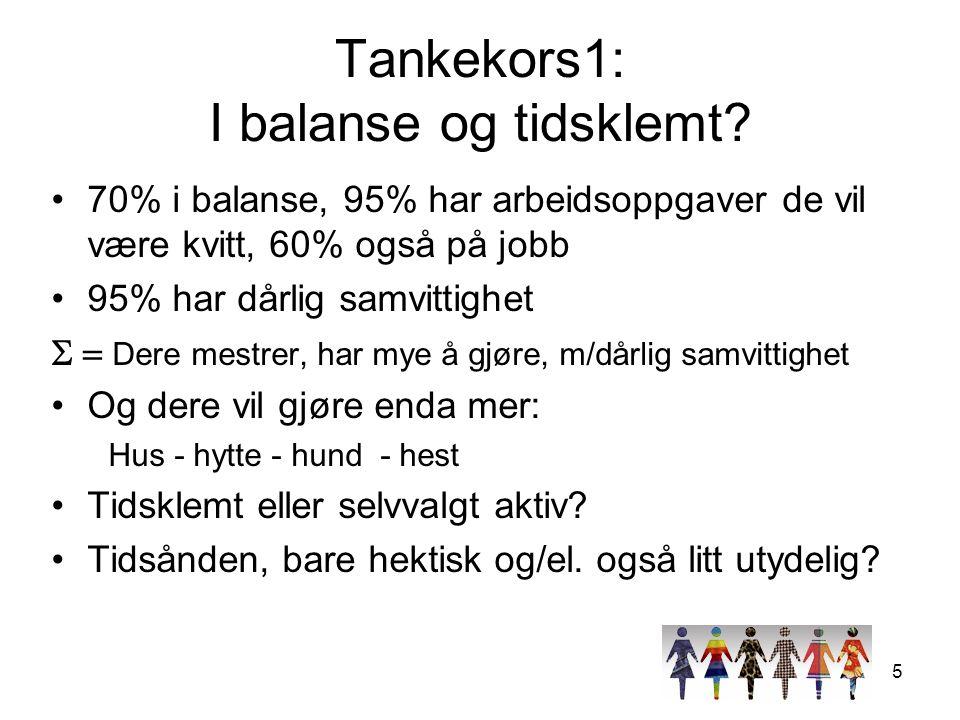5 Tankekors1: I balanse og tidsklemt.