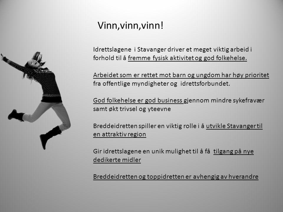 Idrettslagene i Stavanger driver et meget viktig arbeid i forhold til å fremme fysisk aktivitet og god folkehelse. Arbeidet som er rettet mot barn og