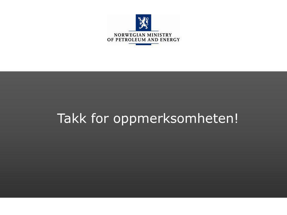 Norwegian Ministry of Petroleum and Energy Engelsk mal: Sluttside Tips bildekreditering: Alle bilder brukt i presentasjonen må krediteres for eksempel slik: Slide nr.
