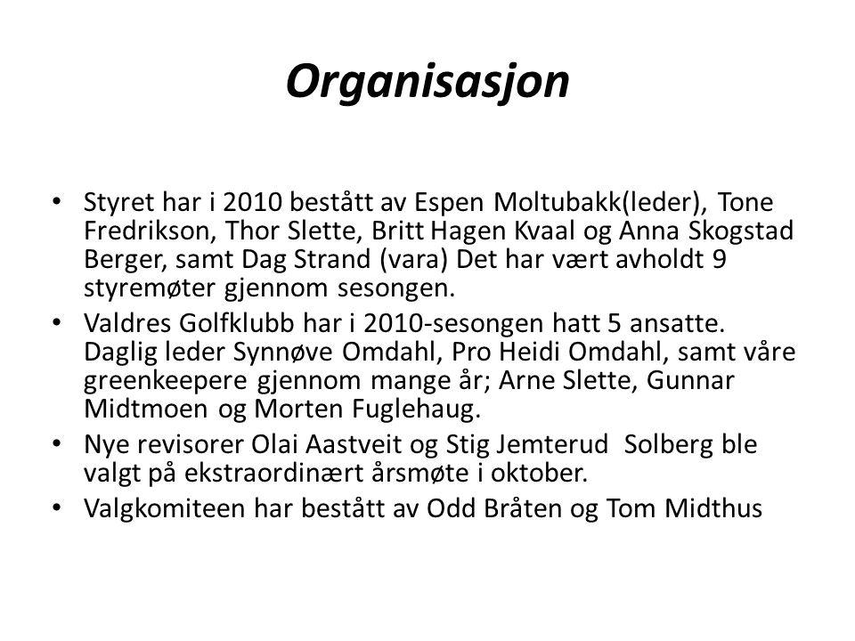 Organisasjon • Styret har i 2010 bestått av Espen Moltubakk(leder), Tone Fredrikson, Thor Slette, Britt Hagen Kvaal og Anna Skogstad Berger, samt Dag