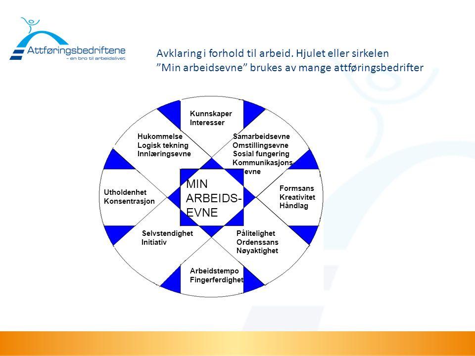 """Avklaring i forhold til arbeid. Hjulet eller sirkelen """"Min arbeidsevne"""" brukes av mange attføringsbedrifter HukommelseSamarbeidsevne Logisk tekningOms"""