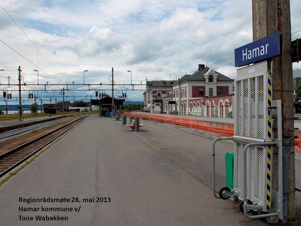 1 Regionrådsmøte 28. mai 2013 Hamar kommune v/ Tone Wabakken