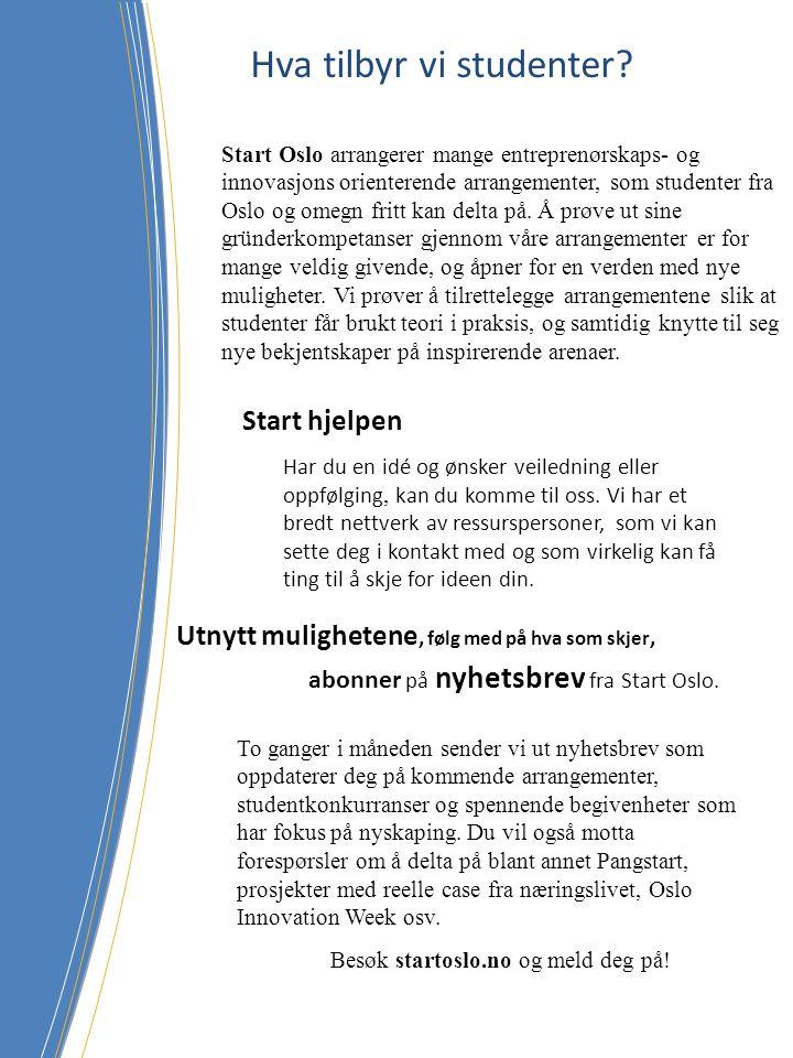 Start Oslo tar opp nye engasjerte medlemmer.