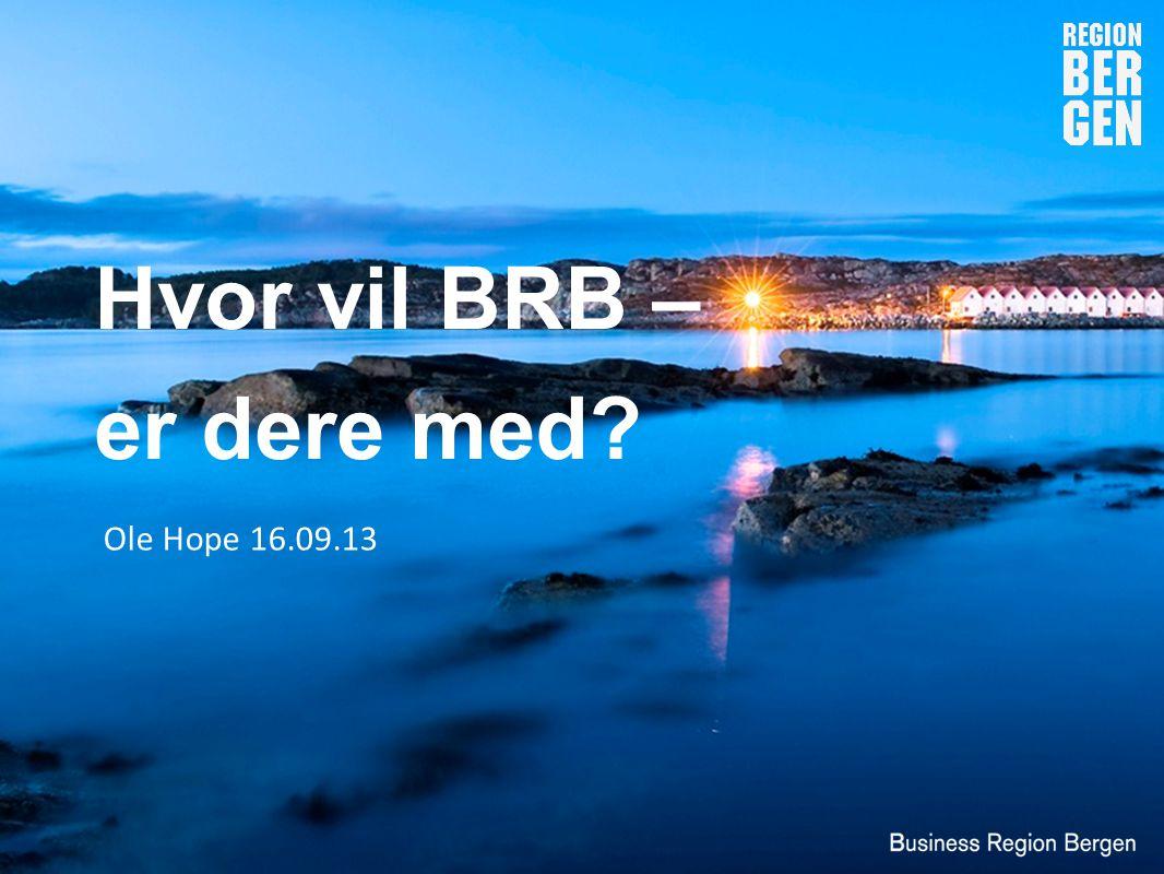 Strategisk næringsplan definerte prioriterte næringer og fokusområder for det offentlige i Bergensregionen Hva skal vi prioritere og hvilken rolle skal vi ha?