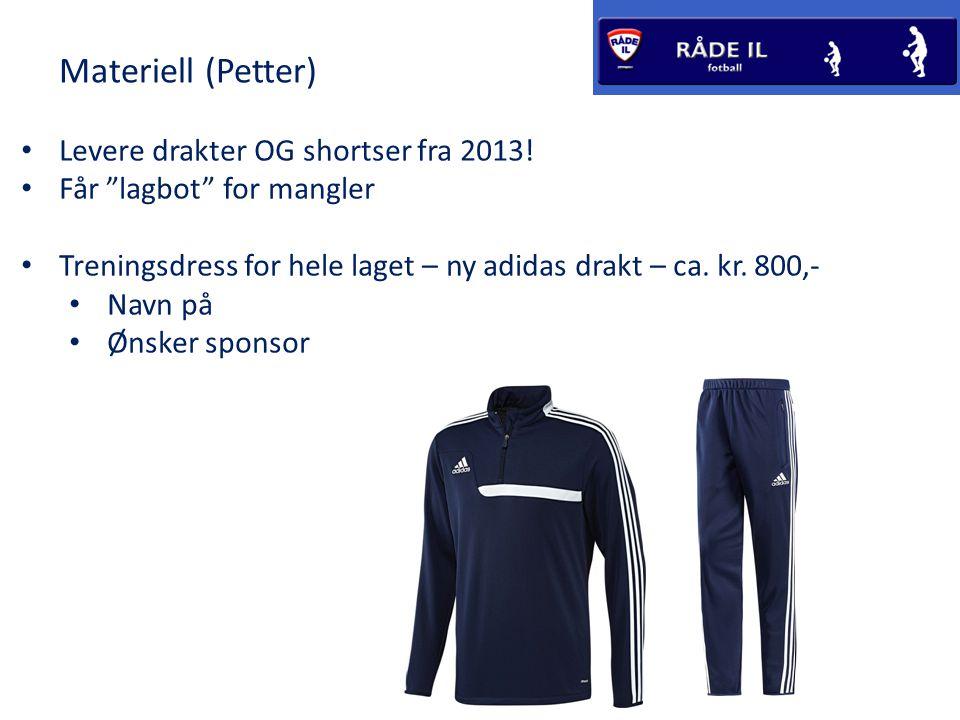 Materiell (Petter) • Levere drakter OG shortser fra 2013.