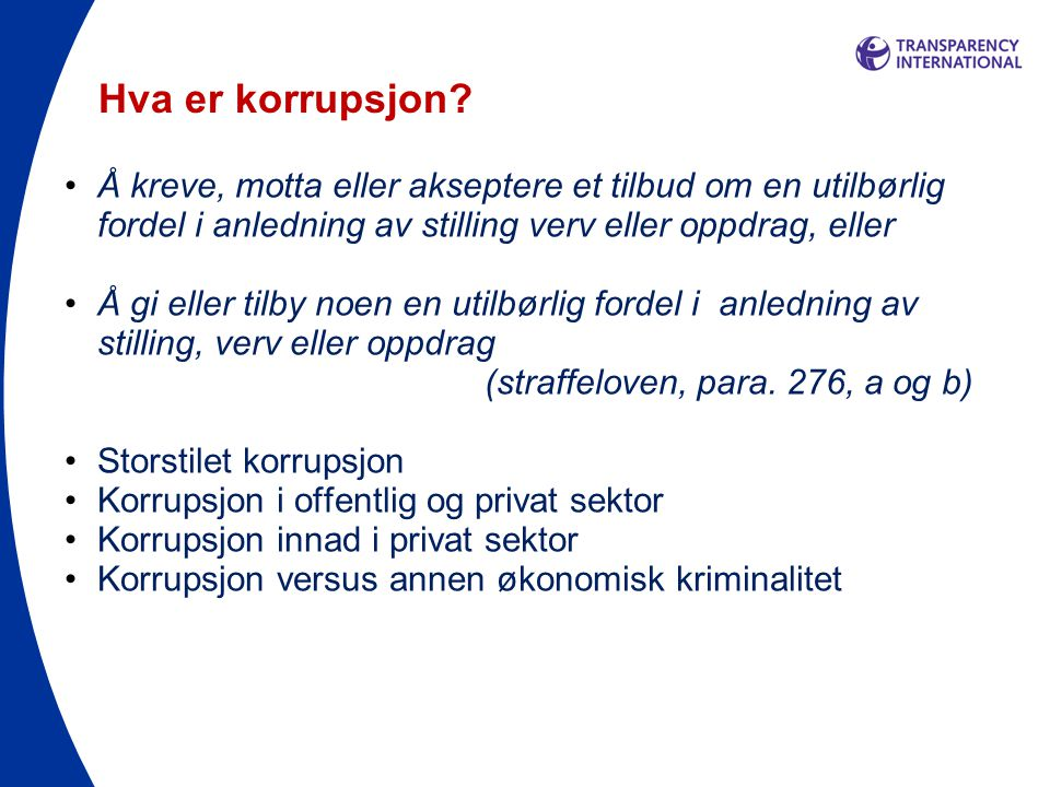 TI HANDBOOK OF GOOD PRACTICES Norwegian Refugee Council 25 May, 2011 Transparency International PREVENTING CORRUPTION IN HUMANITARIAN OPERATIONS