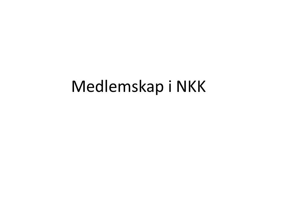 Medlemskap i NKK