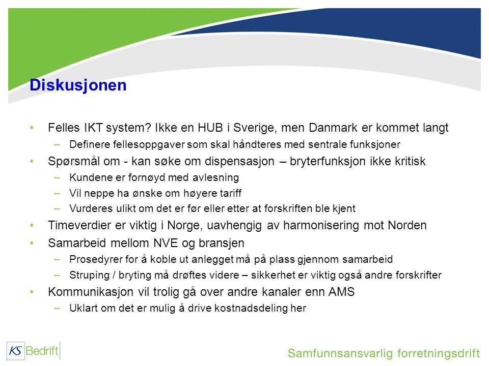 Diskusjonen •Felles IKT system.