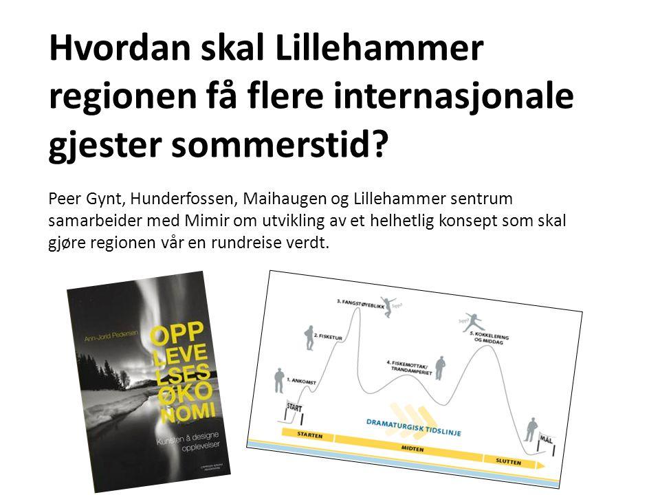 Hvordan skal Lillehammer regionen få flere internasjonale gjester sommerstid? Peer Gynt, Hunderfossen, Maihaugen og Lillehammer sentrum samarbeider me