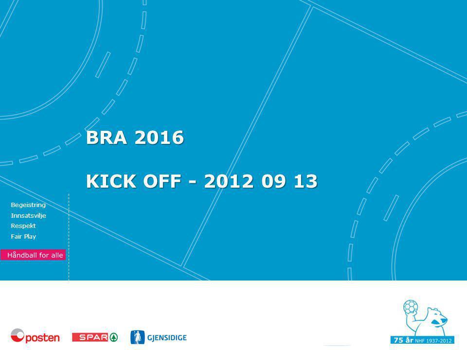 Begeistring Innsatsvilje Respekt Fair Play BRA 2016 KICK OFF - 2012 09 13