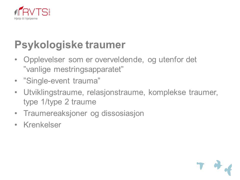 Psykologiske traumer