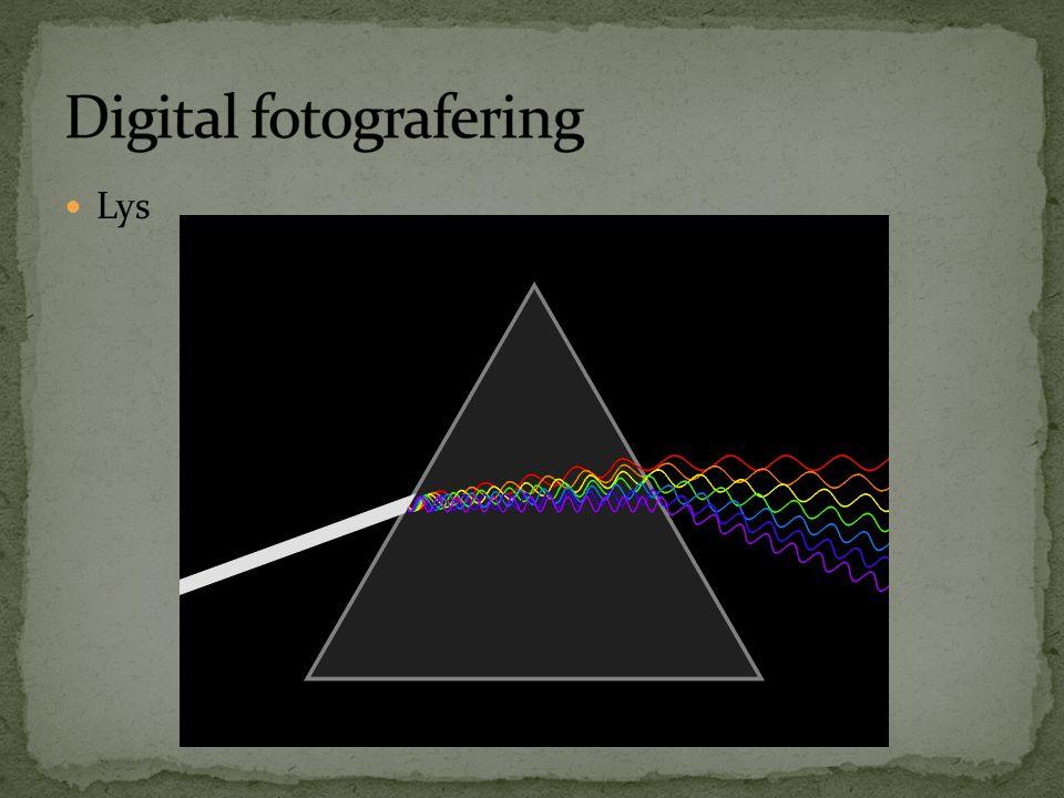  Kamera registrerer data og bearbeider det  Kamera redigerer data; RAW  JPG  Manuell redigering data; RAW  RAW / Råfil