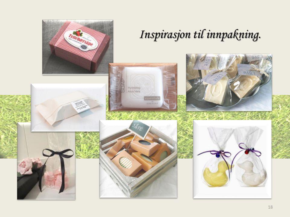 Inspirasjon til innpakning. 18