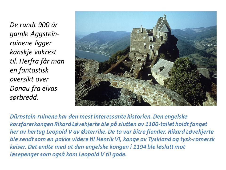 Dürnstein-ruinene har den mest interessante historien. Den engelske korsfarerkongen Rikard Løvehjerte ble på slutten av 1100-tallet holdt fanget her a