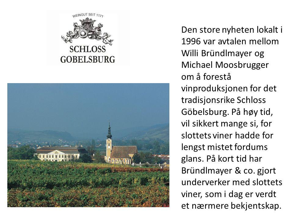 Den store nyheten lokalt i 1996 var avtalen mellom Willi Bründlmayer og Michael Moosbrugger om å forestå vinproduksjonen for det tradisjonsrike Schlos