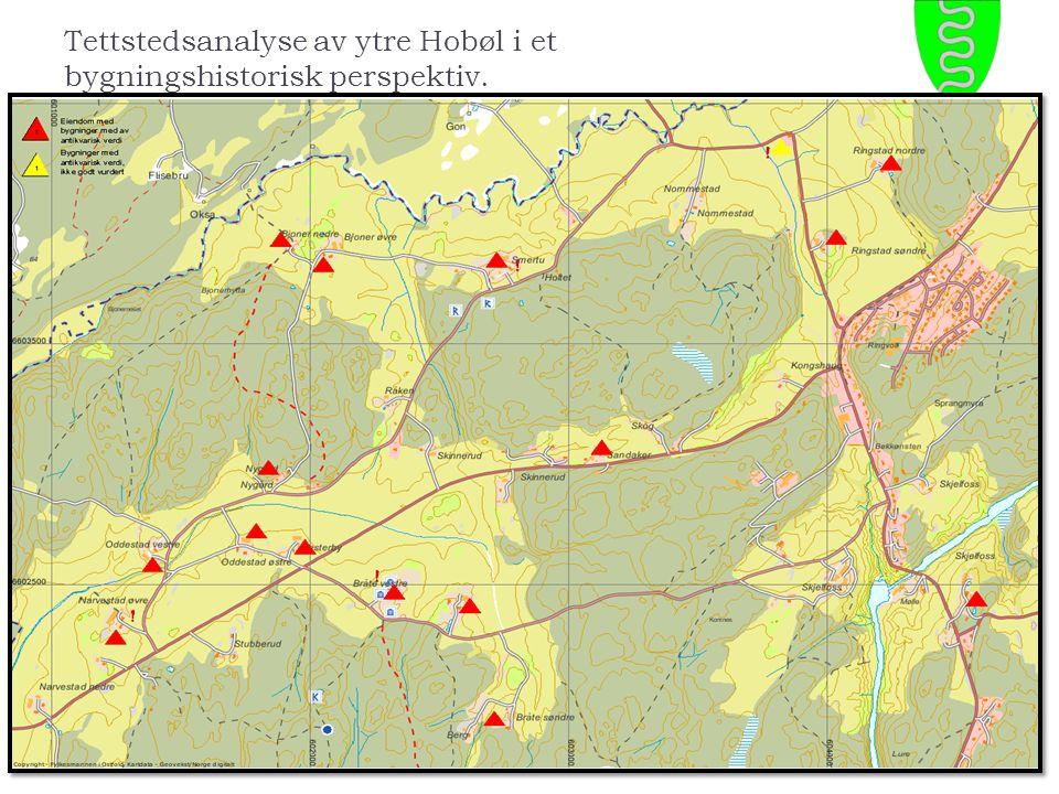 Tettstedsanalyse av ytre Hobøl i et bygningshistorisk perspektiv.
