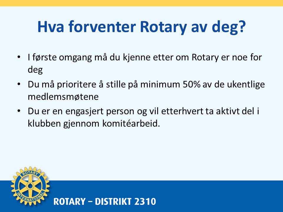 Rotary i Distrikt 2310 • I vårt distrikt, D 2310, som med omland omfatter Oslo – Drammen – Kongsberg og opp til Geilo, er vi 58 klubber med 2.500 medlemmer – både kvinner og menn.