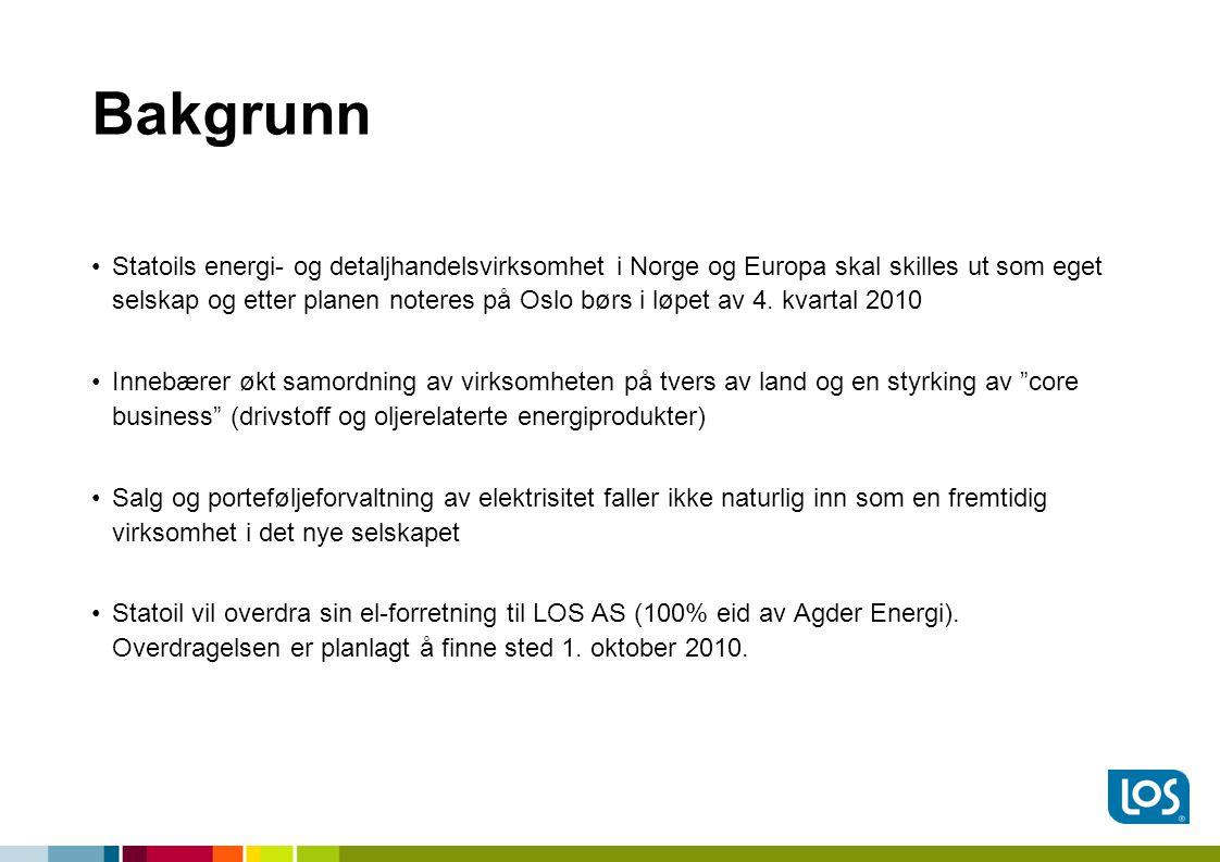 Bakgrunn •Statoils energi- og detaljhandelsvirksomhet i Norge og Europa skal skilles ut som eget selskap og etter planen noteres på Oslo børs i løpet