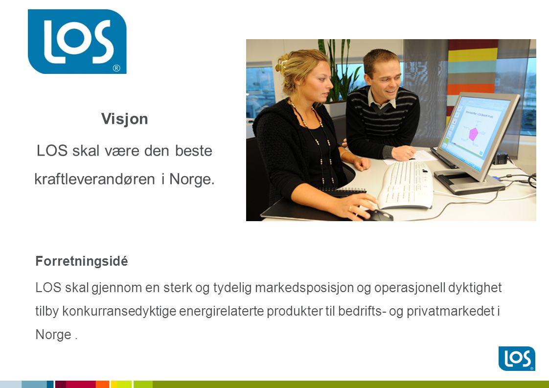 Forretningsidé LOS skal gjennom en sterk og tydelig markedsposisjon og operasjonell dyktighet tilby konkurransedyktige energirelaterte produkter til bedrifts- og privatmarkedet i Norge.