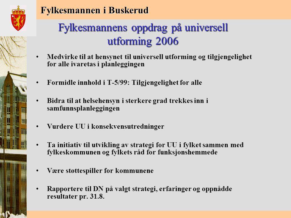 Fylkesmannen i Buskerud Ved behandling av planer skal vi sørge for at følende forhold ivaretas: •God atkomst til: –uteområder og lekeplasser –off.