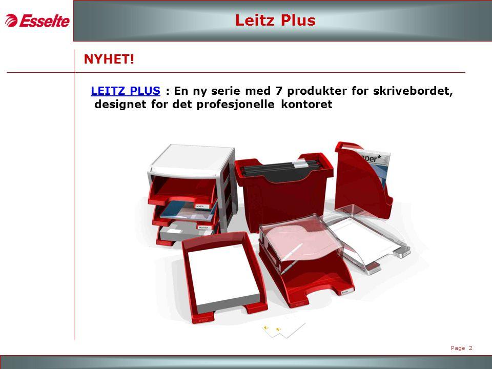 M A R K E N - R O A D S H O W 2007 Page 2 Leitz Plus NYHET.