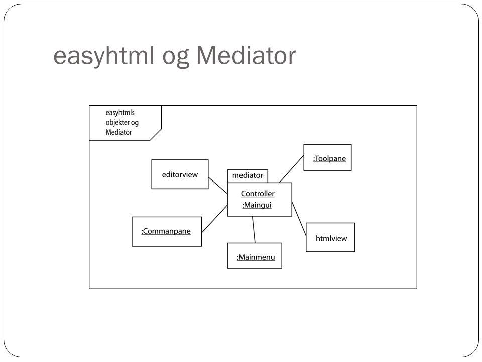 easyhtml og Mediator