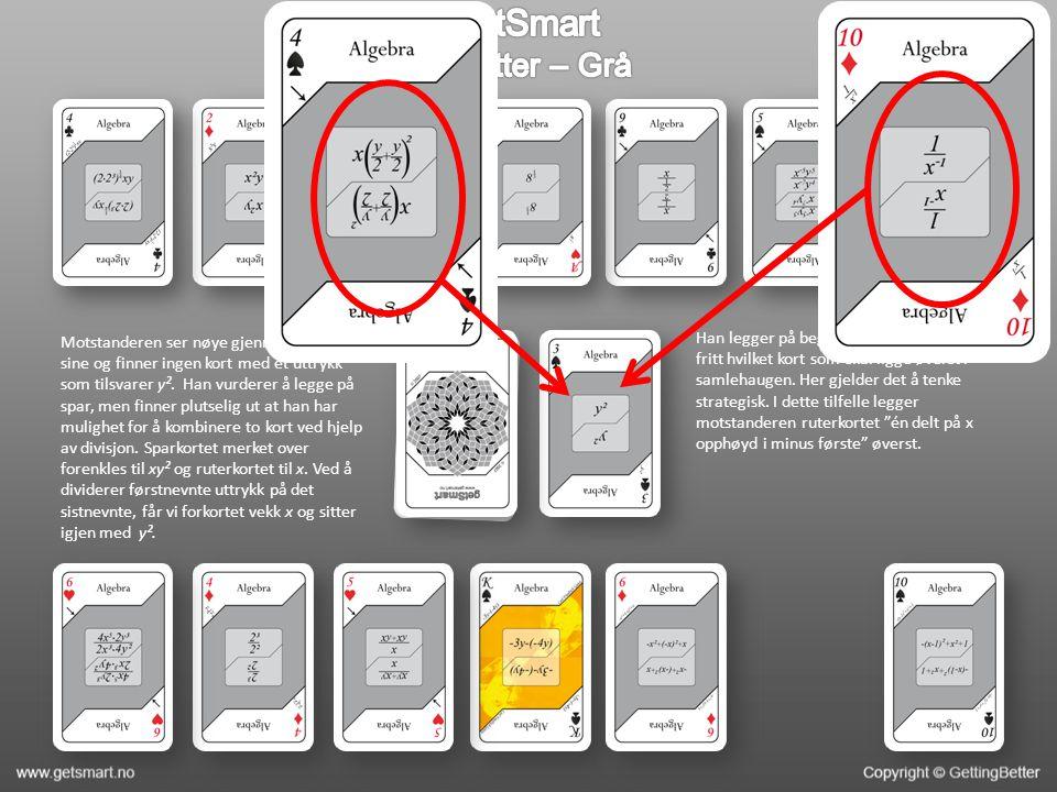 Motstanderen ser nøye gjennom kortene sine og finner ingen kort med et uttrykk som tilsvarer y².